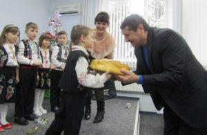 Preşedintele raionului Floreşti a primit urătorii